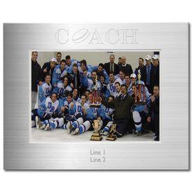 Silver Engraved Hockey Coach Frame 5 x 7