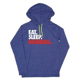 Men's Baseball Lightweight Hoodie - Eat Sleep Baseball Bold