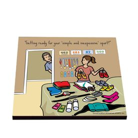 Life On The Run - Simple and Inexpensive Sport - Glossy Tile Coaster