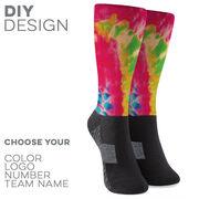Printed Mid-Calf Socks - Tie-Dye