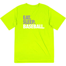 Baseball Short Sleeve Performance Tee - Eat Sleep Baseball Bold Text