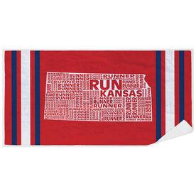 Running Premium Beach Towel - Kansas State Runner