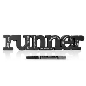 Runner Wood Words Ready To Autograph