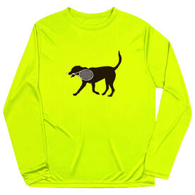 Tennis Long Sleeve Performance Tee - Tanner the Tennis Dog