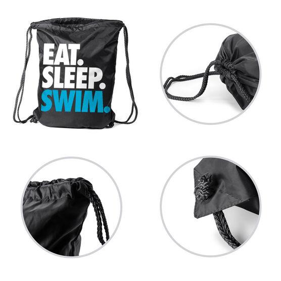 Swimming Sport Pack Cinch Sack Eat. Sleep. Swim.