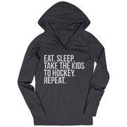 Hockey Lightweight Performance Hoodie - Eat Sleep Take The Kids To Hockey