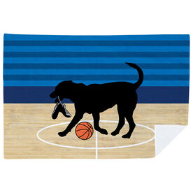 Basketball Premium Blanket - Baxter The Basketball Dog