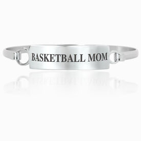 Basketball Engraved Clasp Bracelet - Mom (Text)