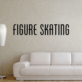 Figure Skating Written Out Removable ChalkTalkGraphix Wall Decal