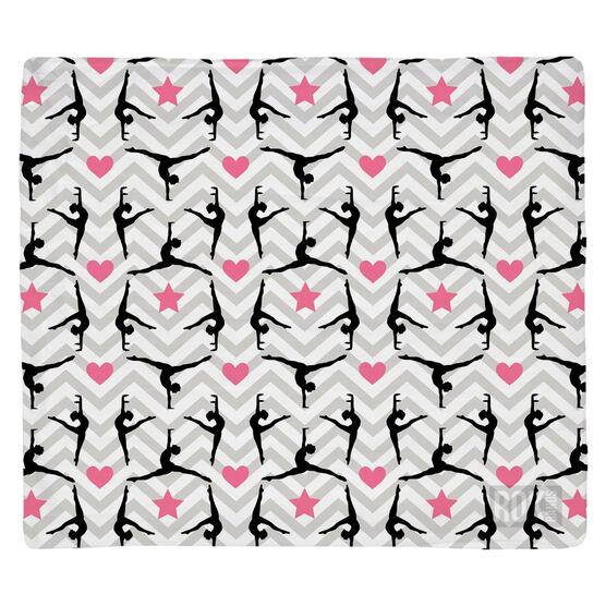 Gymnastics Multifunctional Headwear - Chevron Gymnast Pattern RokBAND
