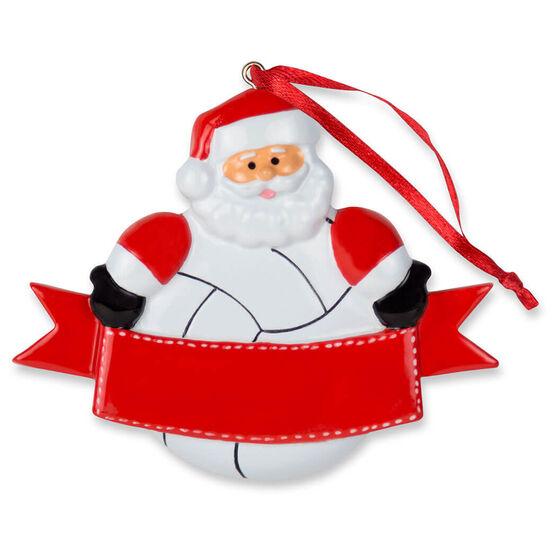 Volleyball Ornament - Volleyball Santa