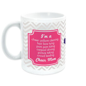 Cheerleading Coffee Mug Mom Poem With Chevron Pattern