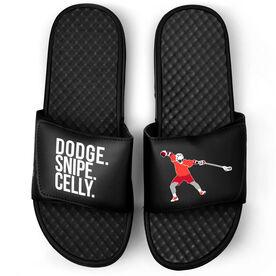 Guys Lacrosse Black Slide Sandals - Dodge Snipe Celly