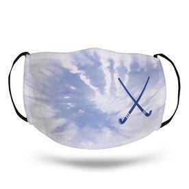 Field Hockey Face Mask - Crossed Sticks with Tie-Dye