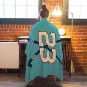 Field Hockey Premium Blanket - Personalized Field Hockey Team With Crossed Sticks