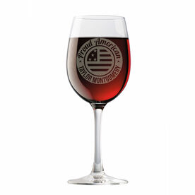 Personalized Wine Glass - Proud American