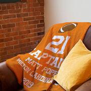 Football Premium Blanket - Personalized Captain