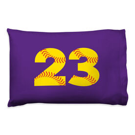 Softball Pillowcase - Number Stitches