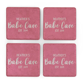 Personalized Stone Coasters Set of Four - Babe Cave