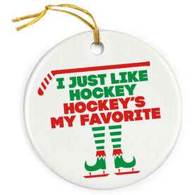 Hockey Porcelain Ornament - Hockey's My Favorite