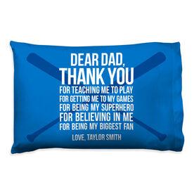 Baseball Pillowcase - Dear Dad