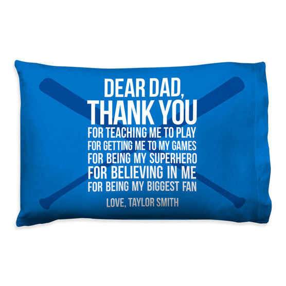 Baseball Pillowcase - Dear Dad