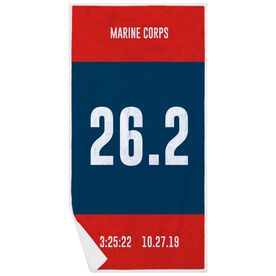 Running Premium Beach Towel - Custom Bib