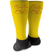 Softball Printed Mid-Calf Socks - Number Stitches