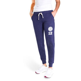 Volleyball Women's Joggers - Volleyball With Number