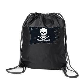Hockey Sport Pack Cinch Sack - Hockey Pirate Flag