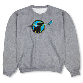 Hockey Crew Neck Sweatshirt - Hockey Dog