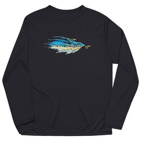 Fly Fishing Long Sleeve Performance Tee - Clouser Fly