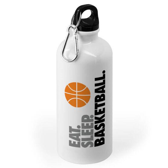Basketball 20 oz. Stainless Steel Water Bottle - Eat. Sleep. Basketball.