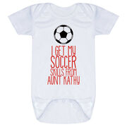 Soccer Baby One-Piece - I Get My Skills From