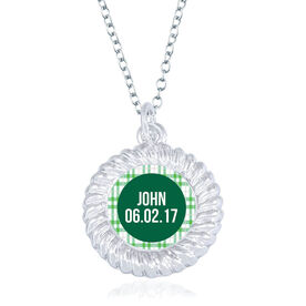 Personalized Braided Circle Necklace - That's My Boy