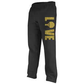 Ping Pong Fleece Sweatpants Love With Paddle