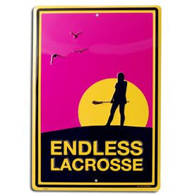 "Endless Lacrosse Aluminum Room Sign (F) (18"" X 12"")"