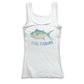 Fly Fishing Vintage Fitted Tank Top - Gone Fishing
