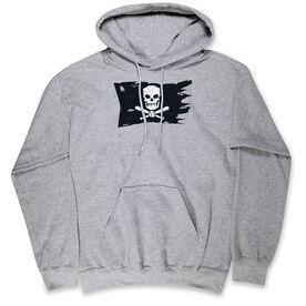 Baseball Hooded Sweatshirt - Baseball Pirate Flag