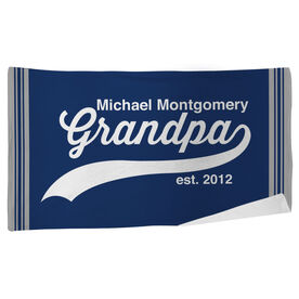 Personalized Beach Towel - Rocking Being A Grandpa