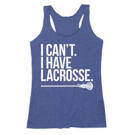 Girls Lacrosse Women's Everyday Tank Top - I Can't. I Have Lacrosse