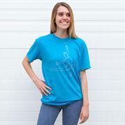 Gymnastics Short Sleeve T-Shirt - Gymnast Sketch