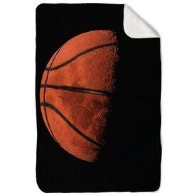 Basketball Sherpa Fleece Blanket - Up In The Sky