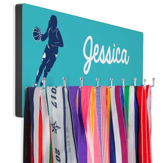 Basketball Hooked on Medals Hanger - Girl Silhouette