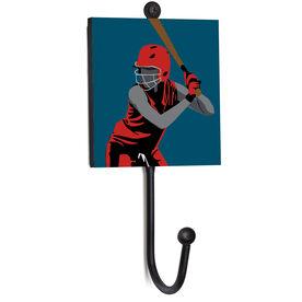 Softball Medal Hook - Closeup Player