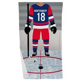 Hockey Beach Towel - Hockey Player