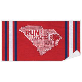 Running Premium Beach Towel - South Carolina State Runner