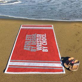Wrestling Premium Beach Towel - Athlete By Design Wrestler By Choice