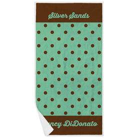 Personalized Premium Beach Towel - My Polka Dots