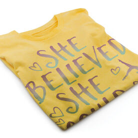 Vintage Gymnastics T-Shirt - She Believed She Could So She Did
